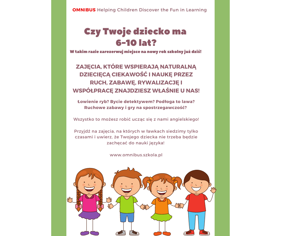 Mauve Green Kids Illustration Day Care Flyer facebook